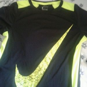 Long Sleeve Black and Neon dri fit active top